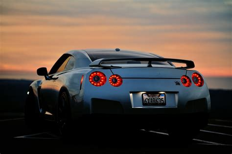nikon nikkor mm   nissan gtr pacific sunset flickr