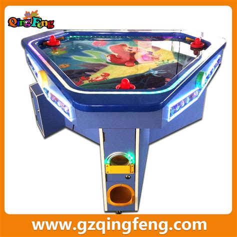 arcade air hockey table qingfeng popular low price amusement hockey arcade