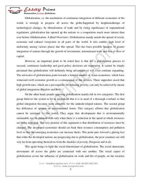 Essay About Economic Crisis by Did Globalization Lead To The Current Economic Crisis Essay Cscsres X Fc2
