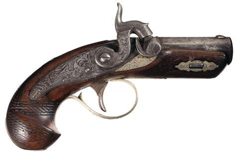 Pistol Gun 1071 attractive silver banded henry derringer quot peanut quot pocket