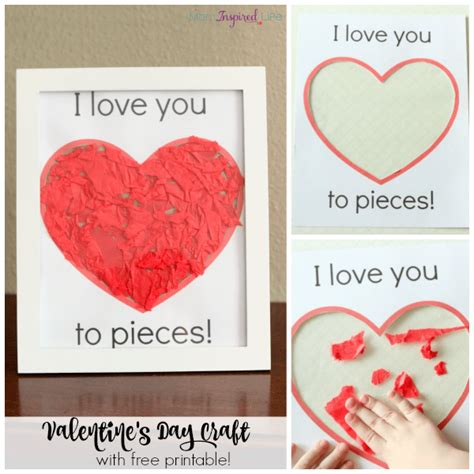 valentines for i you to pieces s day craft activity