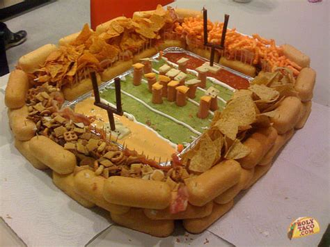 best superbowl snacks the greatest snack food stadium built holytaco