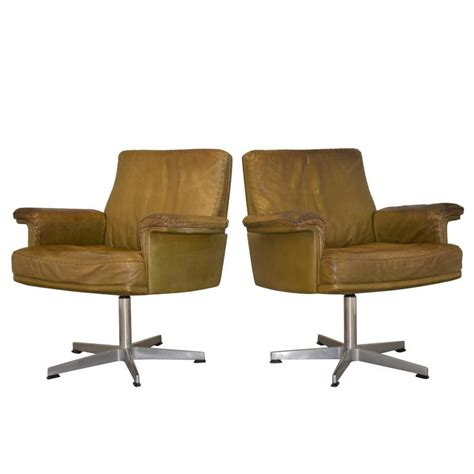 swivel armchairs for sale vintage de sede ds 35 executive desk swivel armchairs