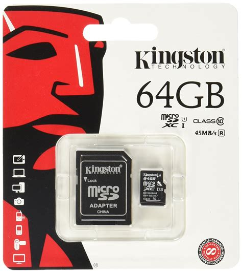 Memory Card Micro Sd 64gb kingston 64 gb microsdhc class 4 flash memory card