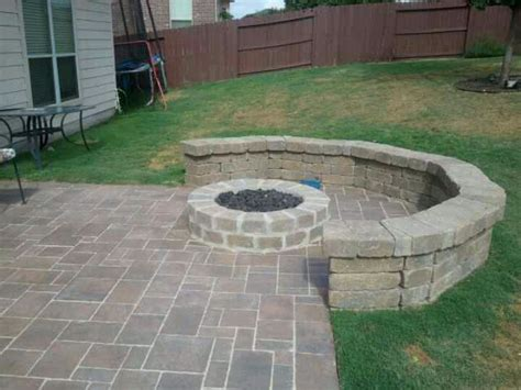 outdoor firepit seating outdoor pit with seating outdoors