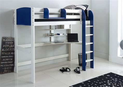 high sleeper bed  desk  shelves scallywag kids