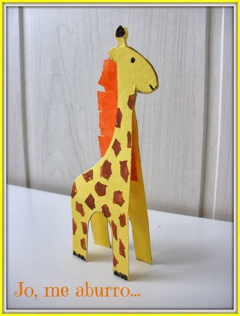 imagenes de jirafas para hacer en foami jirafa de cartulina paperblog