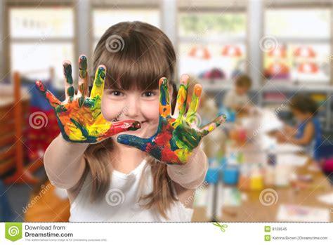 painting for preschool free classroom painting in kindergarten stock image image