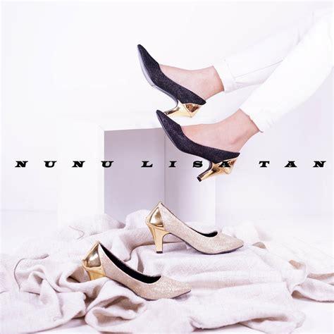 Sepatu Wanita Heels Gold Gliter nunulisatan termurah baru high heels pantofel wanita hak