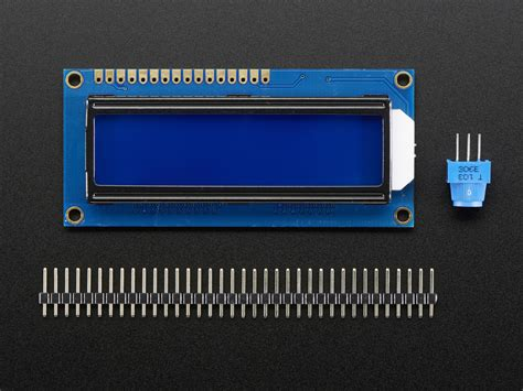 Lcd 16x2 standard lcd 16x2 extras white on blue id 181 9 95