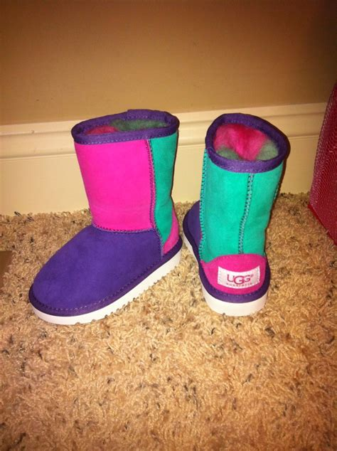 pin multi colored uggs luuux on