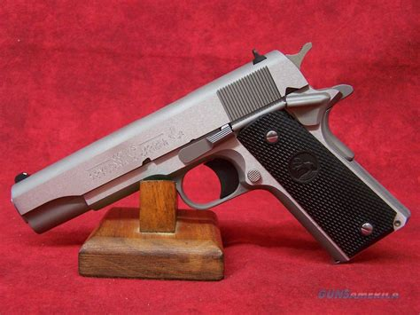 1991 colt government 45acp stainless colt 1991 government model 5 quot 45acp brushed sta for sale