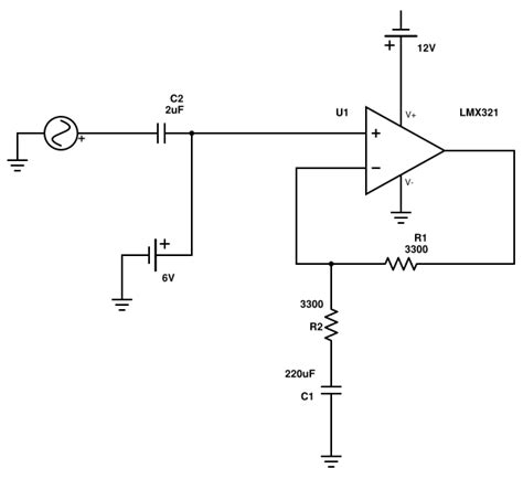 op dc blocking capacitor in op feedback loop does this count as the quot signal path