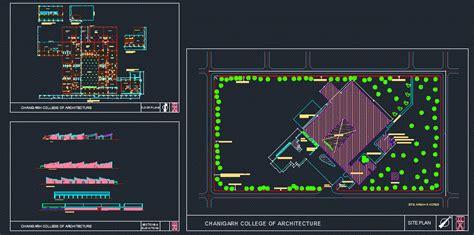 chandigarh college  architecture dwg plan  autocad