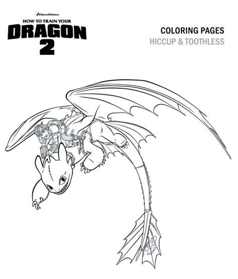 hiccup and toothless coloring page how to train your