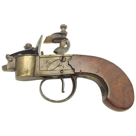 Pocket Of Tinder 18th century pocket flintlock tinder lighter for sale at