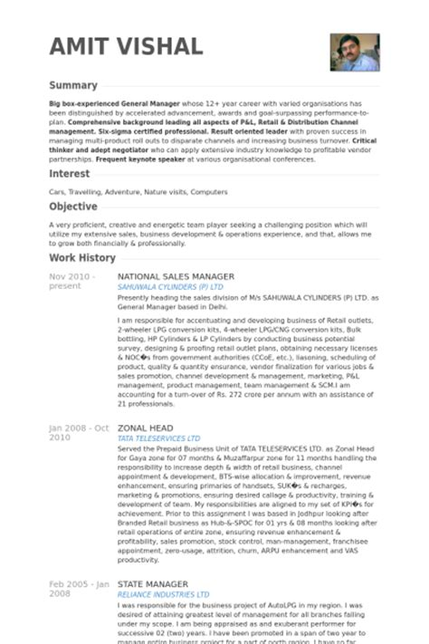 Business Executive Sle Resume by National Sales Manager Resume Sles Visualcv Resume Sles Database