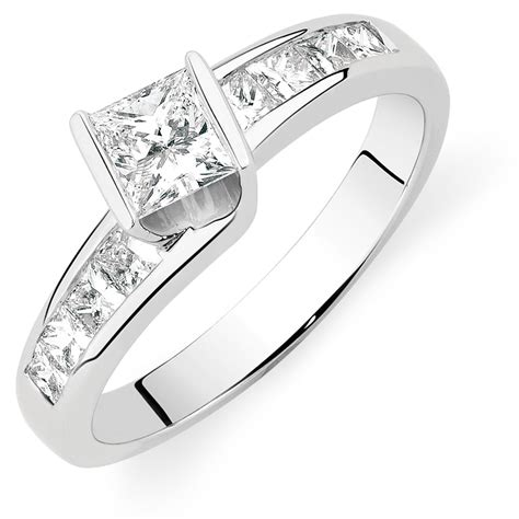 Engagement Ring With 1 Carat Tw Of Diamonds In 14ct Yellow by Engagement Ring With 1 Carat Tw Of Diamonds In 18ct White Gold