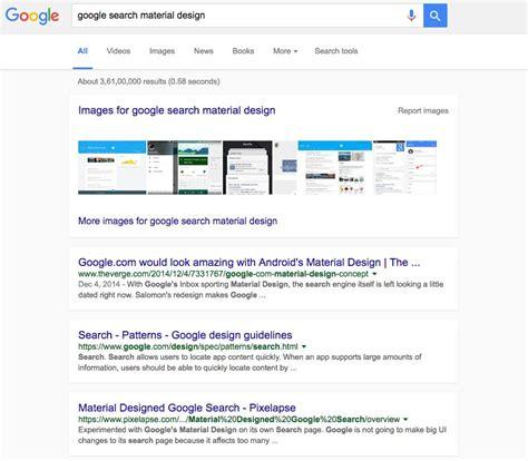 material design google desktop desktop google users might get a material design makeover