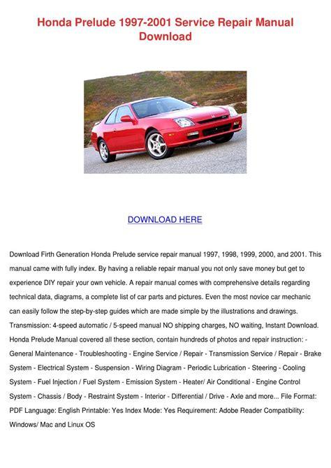 car repair manuals online pdf 1997 honda prelude on board diagnostic system honda prelude 1997 2001 service repair manual by magdalen groholski issuu