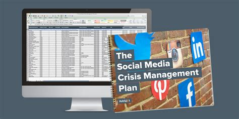 hubspot social media template how to create a social media crisis management plan free