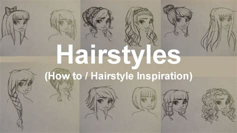 How To Draw Hairstyles by 12 Hairstyles How To Draw Hair Hairstyle