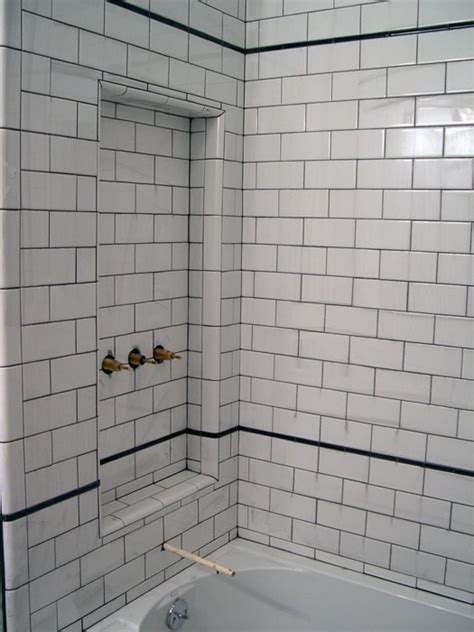 White Grout In Shower by 26 White Bathroom Tile With Grey Grout Ideas And Pictures