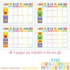free printable easy 5 day lunchbox planner lunch box free printable easy 5 day lunchbox planner lunch box