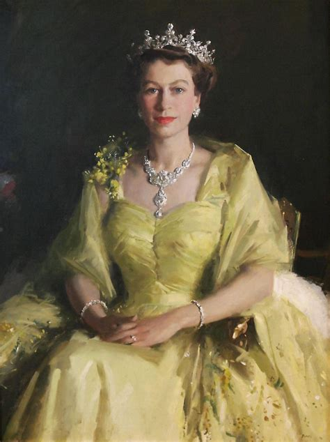 queen elizabeth the second painterlog com themed paintings portrait of queen