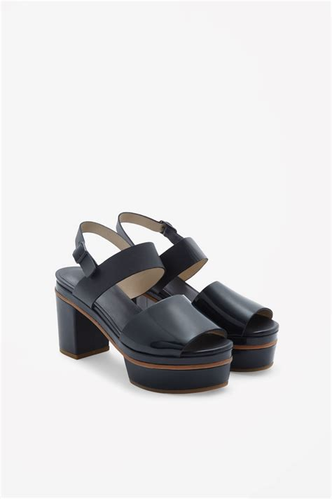 platform sandals cos platform sandals in blue blue lyst