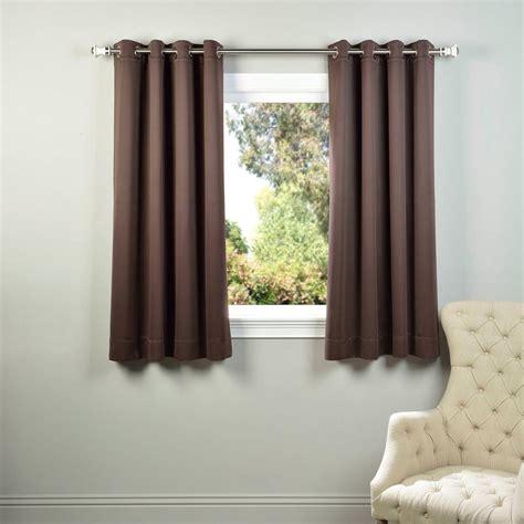 Brown Grommet Curtains Exclusive Fabrics Furnishings Java Brown Grommet Blackout Curtain 50 In W X 63 In L Pair