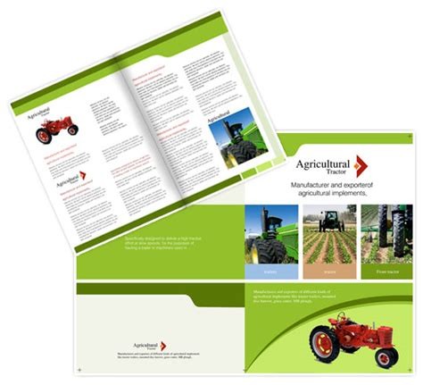 agriculture brochure templates brochure template for agricultural implements