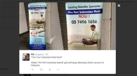 Robot Pembersih Rumah 07 dihina iklan di malaysia rieke kami bukan bangsa babu