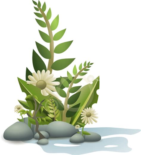 andy plants pebbles and flowers clip art at clker com