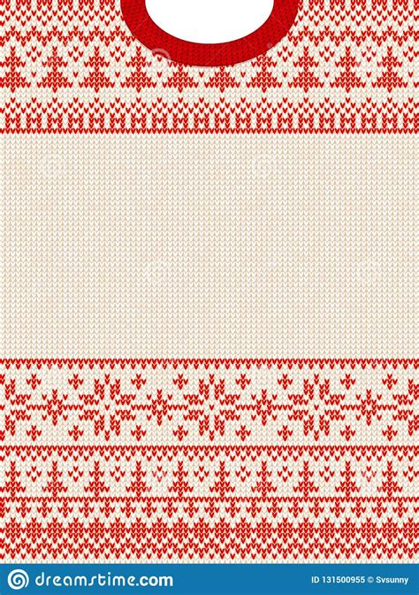 ugly sweater merry christmas  happy  year greeting card frame border vector illustration