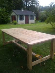 white outdoor farmhouse table made of cedar diy