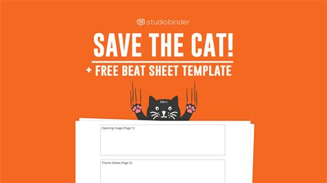 save the cat beat sheet explained with free template