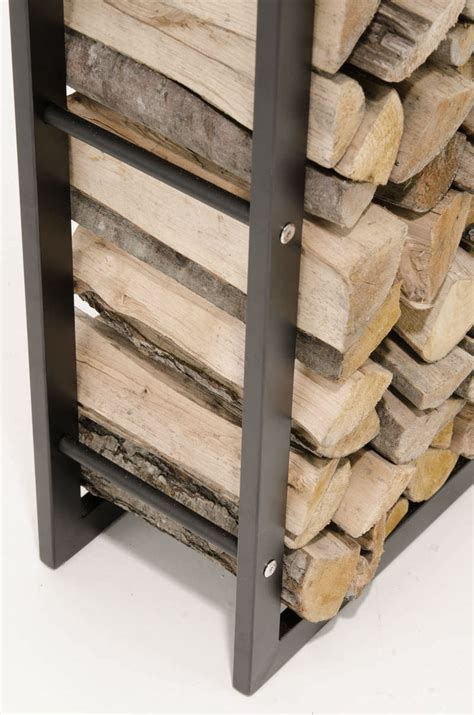 Metal Wood Rack by Firewood Rack Black Log Shelf Basket Stand Holder
