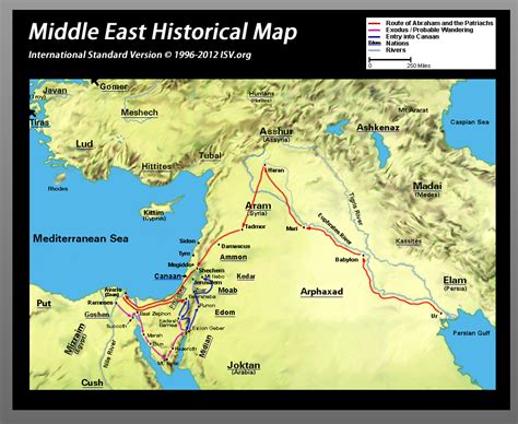 middle east map bible times bible map middle east nations