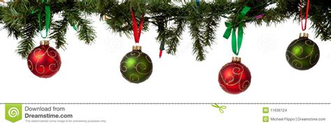 christmas ornament hanging from garland stock photo