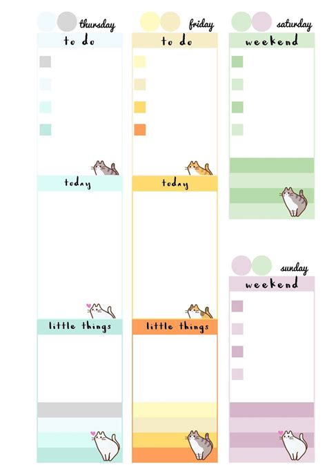 printable calendar insert pb and j studio free printable inserts pastel cats a5