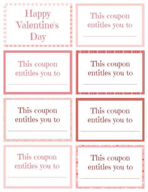 printable valentine s day coupon book template printable valentine coupon book for kids