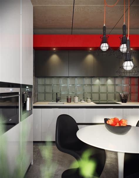 5 Houses That Put A Modern Twist On Exposed Brick Etched Glass Backsplash
