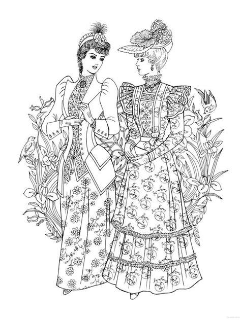 fashion coloring books creative nouveau fashions coloring book