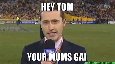 Tom Meme - hey tom your mums gai tom waterhouse aussie memes