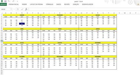 Inserir Calendã No Excel 2010 Como Criar Um Calend 225 Anual No Excel 2016 2013 Ou 2010