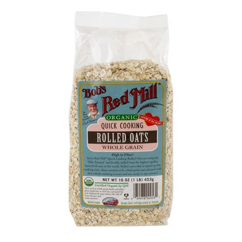 Bob S Mill Organic Cooking Rolled Oat Whole Grain bob s mill organic cooking rolled oats whole