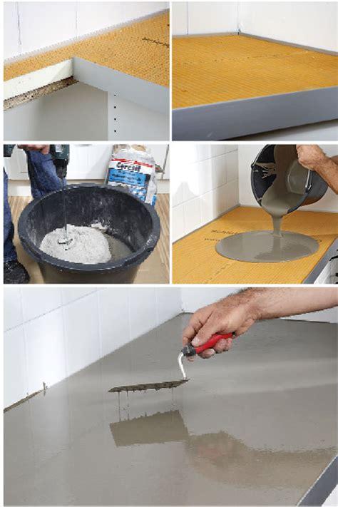 piano cucina in cemento piano cucina in cemento e kerdi board bricoportale fai