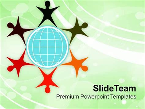 Illustration Of Diverse Community Powerpoint Templates Ppt Themes Authorstream Community Service Powerpoint Template