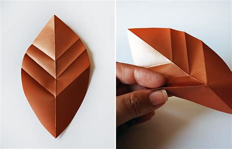 Folded Paper Template - tutorial folded paper leaves and four festive ways to use